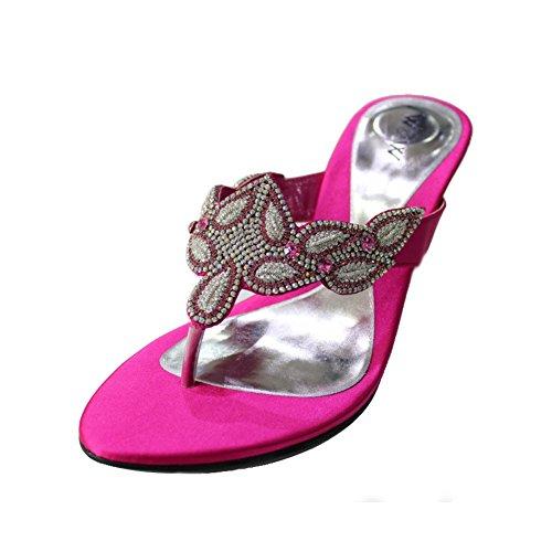 Mujeres Rosa 4 Comodidad W nbsp; Party Zapatos varia amp; Señoras Tacón nbsp;– nbsp;10 Sandalias Diamante Tamaño Moda Boda De Noche 86x5SHw6