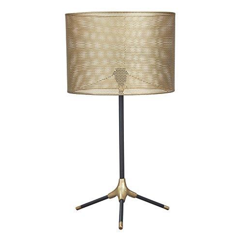(Ashley Furniture Signature Design - Mance Metal Table Lamp - Telescoping Post - Gray & Brass Finish)