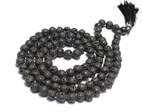 Jewel Beads Gems-Jewellery Lava mala 109 japa mala hand ...