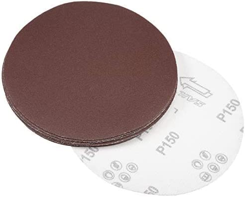 - 7-Inch Sanding Disc, 150 Grains, Flocked Sandpaper für Sander, 10 Pieces