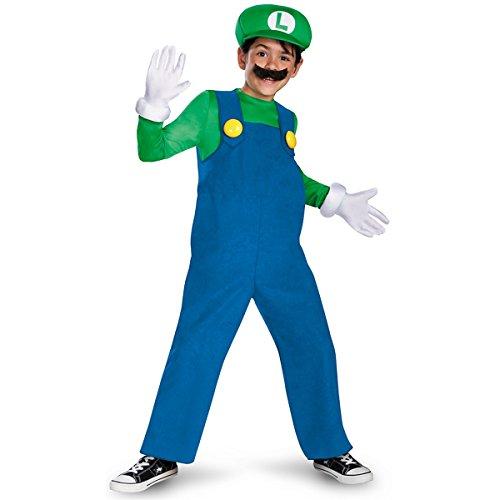 Disguise Boys' Luigi Deluxe Costume - Medium