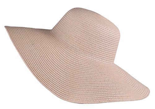 women's sun hat wide brimmed suns protection straw cap floppy beach hat Beige