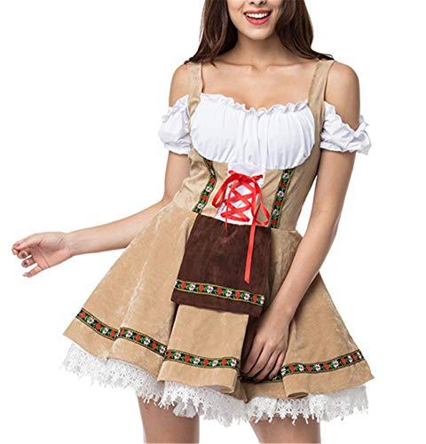 M_Eshop Women's Bavarian Dirndl Dress Off Shoulder