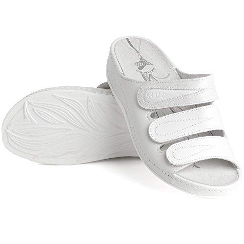 Batz CSP Sandalias de cuero para mujer Blanco