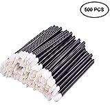 EVERMARKET(TM) 500 Pieces Disposable Lip Brushes Lipstick Gloss Wands Applicator Makeup Tool Kits, Black