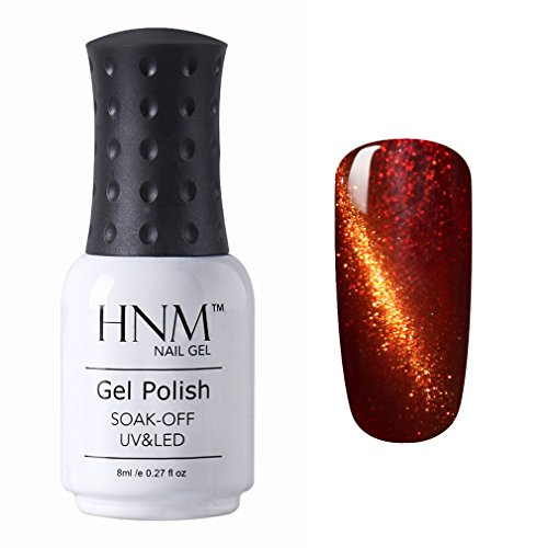 Enamel Magnetic (HNM UV LED 3D Cat Eye Effect Nail Gel Polish Magnetic Soak Off Varnish 8ml 9924)