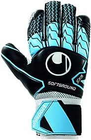 Luva De Goleiro Uhlsport Soft Hn Comp, Preto, Azul e Branco