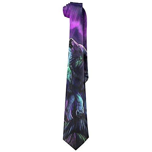 Howling Wolf Men's Tie Long Necktie Skinny Neckwear Silk by Klorick