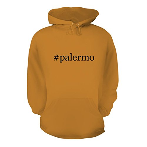 fan products of #palermo - A Nice Hashtag Men's Hoodie Hooded Sweatshirt, Gold, Large
