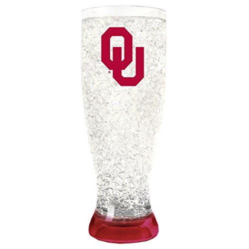 Duck House NCAA Oklahoma Sooners 16oz Crystal Freezer Pilsner