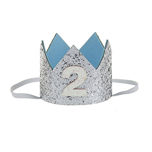 - MinXiao Hairband Birthday Crown Baby Glitter Cute Infant Ingenious Toddler Headwear Gift