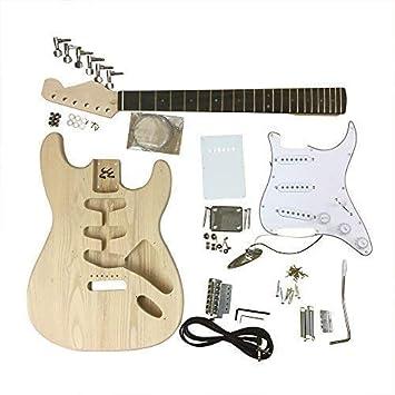 GD4401 Coban Guitars Diestros Fresno Guitarra Eléctrica Kit construcción para estudiante & Luthier Proyectos - Blanco