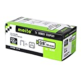 meite 22GA 71 Series or C Crown 3/8-Inch Crown By Leg Length 3/8-Inch Galvanized Fine Wire Staples Upholstery Staples (10000pcs/Box)