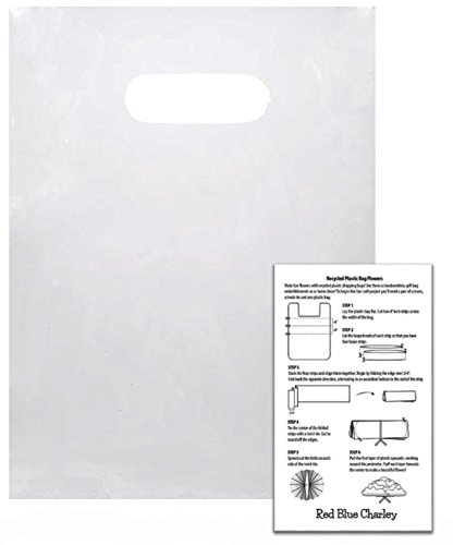 100 Ultra Clear 9x12 Die Cut Handle Bags 2.25 mil with Craft Insert