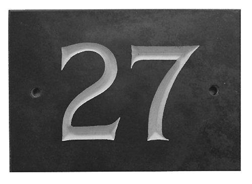 Black Slate House Number 1-99 (Number 27)
