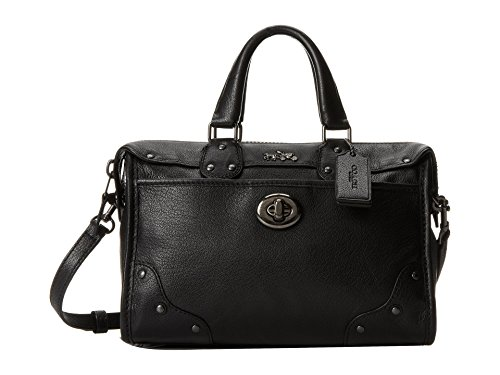 Coach Rhyder 24 Satchel in Leather, Style 33690, Black by Coach