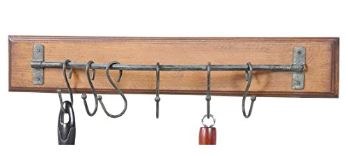 Rustic Wood Metal Wall Hooks