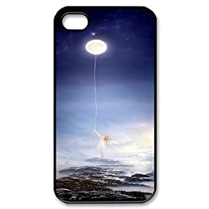 UNI-BEE PHONE CASE For Iphone 4 4S case cover -Bright Moon-CASE-STYLE 9