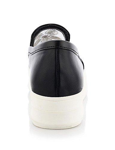 5 White Eu42 Uk8 us5 5 us10 Vestido Blanco Mujer Uk3 Zapatos Eu36 Punta Cn43 Zq Black Plataforma Semicuero Redonda Negro De 5 Cn35 5 Mocasines waZO6qP