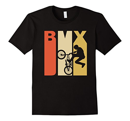 Mens Retro 1970's Style BMX Silhouette Extreme Sports T-Shirt XL - Styles Bmx
