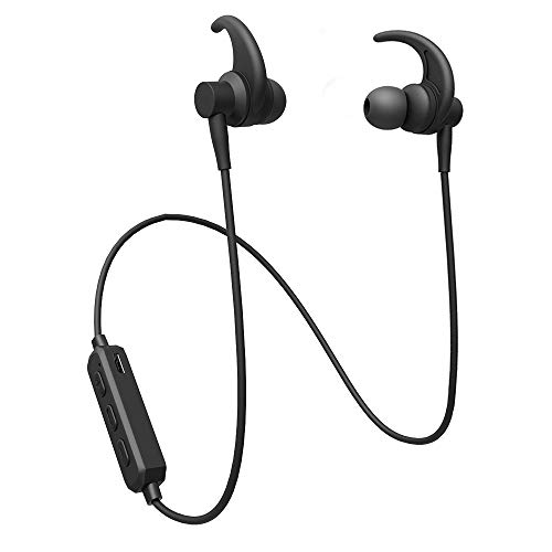 Wireless Bluetooth Headphones, RAVEtone Bluetooth Earbuds Sport in-Ear Wireless Earphones with Mic (Super Sound Quality, Bluetooth 4.2, 8 Hours Play Time, Secure Fit Design) (Black)