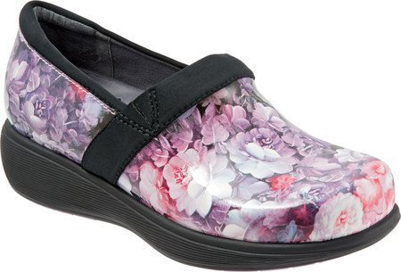 SoftWalk Women's Grey's Anatomy Meredith Sport Clog (8.5 B(M) US, Purple/Pink Floral Patent)