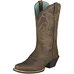 Ariat Women's Legend Western Cowboy Boot, Distressed Brown, 8 M US