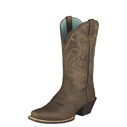 Ariat Women's Sassy Legend Cowgirl Boot Snip Toe Brown 8 W U