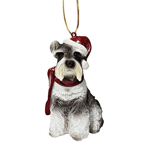 Design Toscano Christmas Ornaments - Xmas Miniature Schnauzer Holiday Dog Ornaments