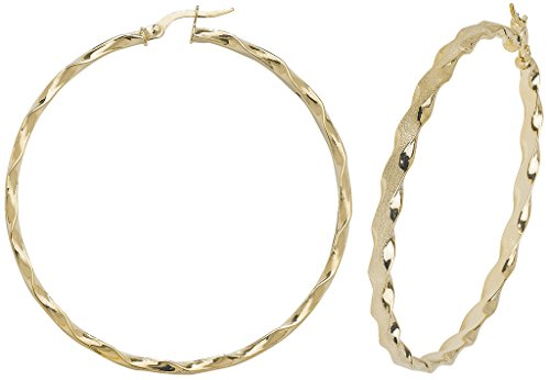Boucles d'oreilles créoles Femme-Or 9carats Twist