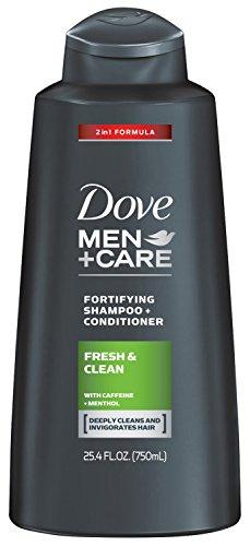 Dove Men + Care 2 en 1 shampoing, fraîche et propre 25,4 oz (Pack de 4)