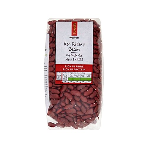 Red Kidney Beans Waitrose Love Life 500g - Pack of 6