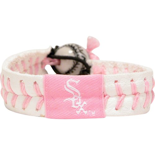 - GameWear Chicago White Sox Pink Baseball Bracelet