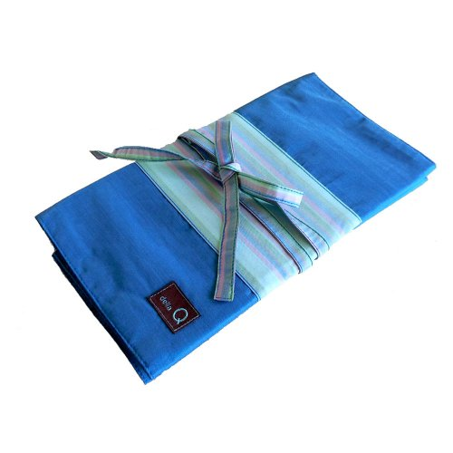 della Q Knitting Case 20-Pockets for Interchangeable Knitting Needles; 023 Ocean Stripes 185-1-023 by della Q