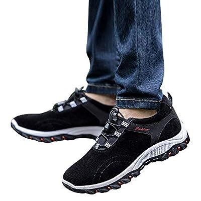 PLENTOP Fashion Sneakers, Fashion Men Hiking Boots Waterproof Hiking Shoes Flock Outdoor Sneakers