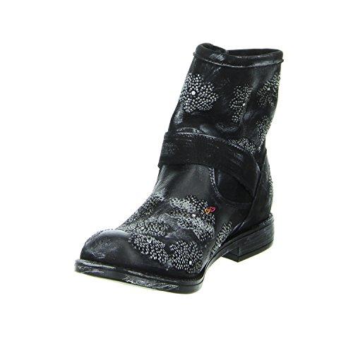 Biondini ROMA NABUK NERO Boots schwarz Leder Schwarz