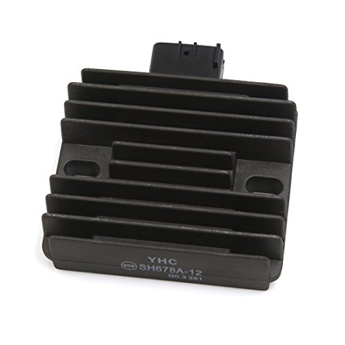 uxcell 6 Pin Motorcycle Voltage Regulator Rectifier Black by uxcell