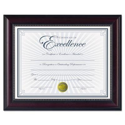 DAXamp;reg; - Prestige Document Frame, Rosewood/Black, Gold Accents, Certificate, 8 1/2 x 11amp;quot; - Sold As 1 Each - Fashionable two-tone frame with gold bead accents gives your certificate the -