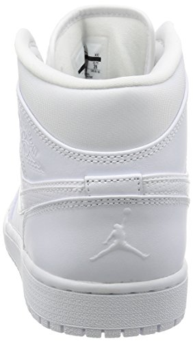 WHITE BLACK JORDAN WHITE MID 1 AIR Nike 4pAUY