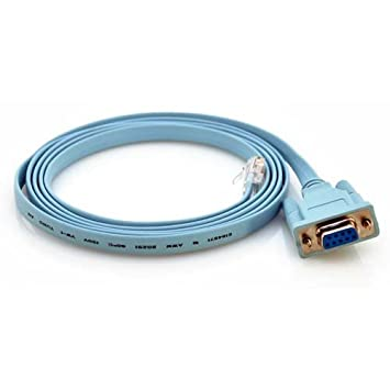 Amazon.com: Cisco 72-3383-01 6ft Rollover Console Cable DB9 Female ...