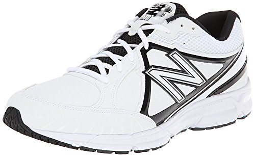 New Balance Mens T500 Turf Low Baseball Shoe, Blanco/negro, 50 EU/14.5 UK