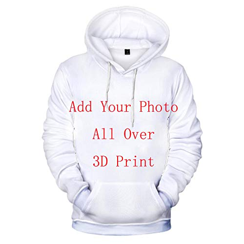 Custom Hoodies for Men and Women Funny 3D Print Hooded Sweatshirt Design Your Own Personalized Pullover