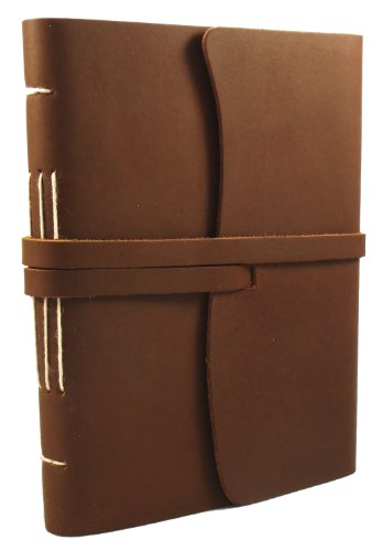 Rustic Ridge Classic Genuine Leather Journal - Handmade Leather Diary/Notebook/Sketchbook