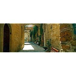 Pedestrian walkway Orvieto Umbria Italy Poster Print (36 x 12)