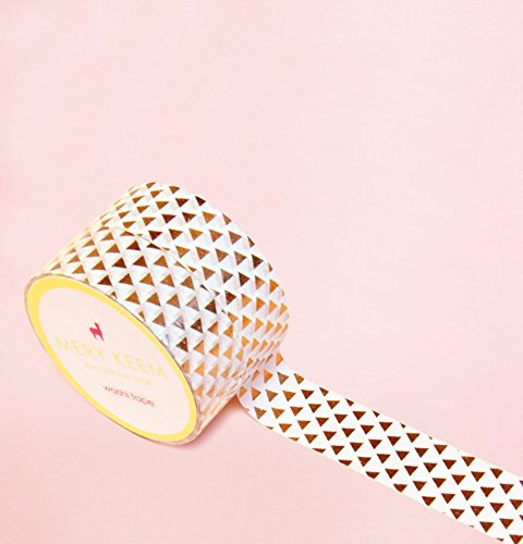 Triangle Shapes in Rose Gold Foil Washi Tape for Planning • Scrapbooking • Arts Crafts • Office • Party Supplies • Gift Wrapping • Colorful Decorative • Masking Tapes • DIY from Mery Keem