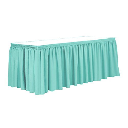Ultimate Textile 17 ft. Shirred Pleat Polyester Table Skirt - 42