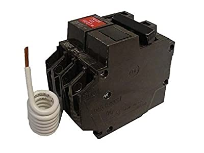 GE THQL2120GFT Plug-In Mount Type THQL Feeder Self-Test Ground Fault Circuit Interrupter 2-Pole 20 Amp 120/240 Volt AC