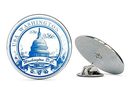 Washington D.C. Round Metal 0.75