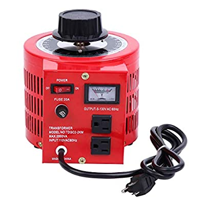 PanelTech Auto Transformer 2000W 20Amp AC Variable Voltage Regulator 2000VA 0-130V Output Autotransformer 110V