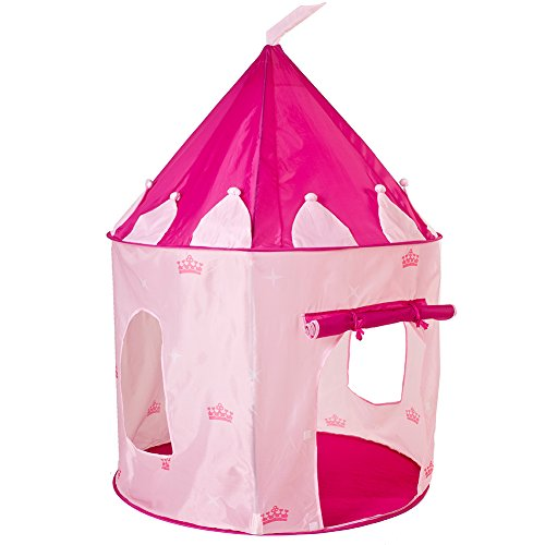 Pink Princess Castle Fairy Tale Play Pop Up Tent with Storage Case for Toddlers and Kids Lightweight and Portable Indoor & (Fairy Tale Castle Storage)